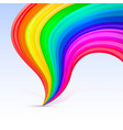 rainbow tornado on the white background vector image