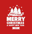 merry christmas quote tree lettering vector image
