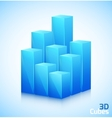 3D cubes in blue color vector image vector image