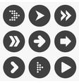 Set of stencil arrows vector image