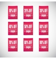 Sale clothing labels set of discounts vector image vector image