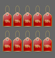 Bargain price tags vector image vector image