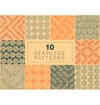 Seamless Hand Drawn Geometric Patterns vector image