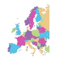 Dot style of europe map vector image