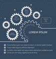 gears with on the blue background infographic vector image