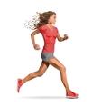 Girl running marathon designed using line vector image