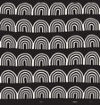 Monochrome minimalistic tribal seamless pattern vector image