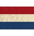 Netherlands paper flag vector image