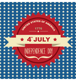 Poster 4 July Independence DayTypography vector image