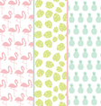 SET OF EXOTIC PATTERNS OR BACKGROUND IN PASTEL COL vector image