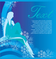 winter girl on blue background vector image