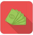 Dollar banknotes icon vector image vector image