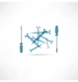 Screwdriver and screws Repair Icon Vector Image