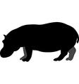 Silhouette of a hippopotamus vector image