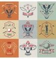 Set of Golf Logo Labels and Emblems vector image