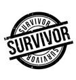 survivor rubber stamp vector image