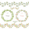 pretty floral collection cute set seamless vector image vector image
