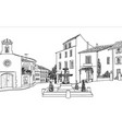 old city street view european cityscape house vector image