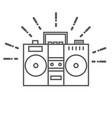 Retro tape recorder icon vector image