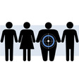 Diabetes targets overweight people vector image