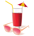 Glass with juice vector image vector image