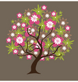 floral tree vector image vector image