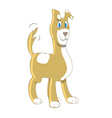 puppy dog wagging tail vector image vector image