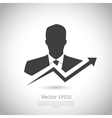 Businessman goes to success vector image vector image
