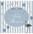Baby shower card design with message vector image