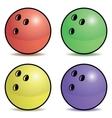Bowling ball set vector image