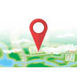 city map icon gps and navigation vector image