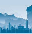 city with pollution problem blue background vector image