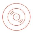 Disc line icon vector image