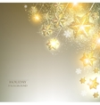 Elegant Christmas background with stars garland vector image