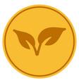 flora gold coin vector image