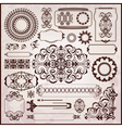 floral textures in rococo style vector image