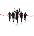 group of runners vector image