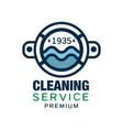 original logo design for cleaning service vector image