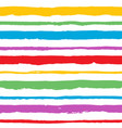 rainbow hand painted abstract brush strokes vector image
