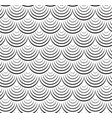 seamless black and white texture of fish scales vector image