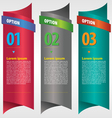 Vertical ribbon banner with option numbered vector image