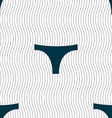 Underwear icon sign Seamless pattern with vector image