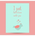Valentines day gift card Handdrawn design vector image
