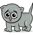 Baby cat kitten cartoon vector image