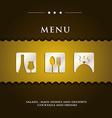 modern restaurant menu vector image