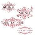 set of vintage design elements vector image vector image