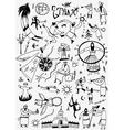 Ethnic musicians - doodles set vector image