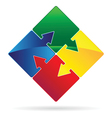 puzzled arrows vector image vector image