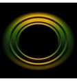 Bright orange green circles logo background vector image