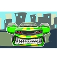 Angry car vector image